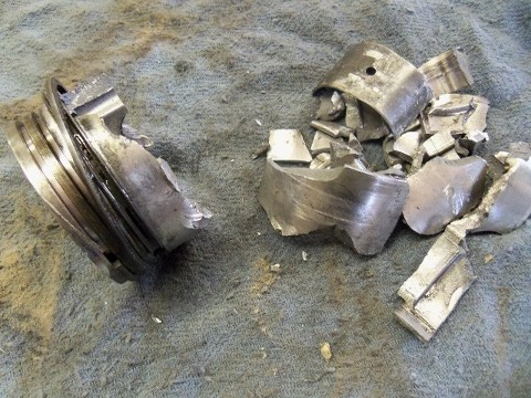 Broken Piston Skirt